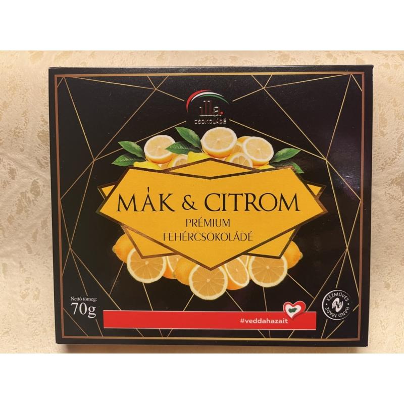 Mák & Citrom Prémium Fehércsokoládé