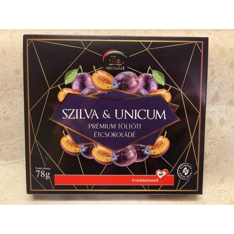 Szilva & Unicum Prémium Töltött Étcsokoládé